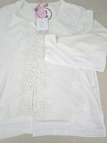 ニットの脇巾出し(脇、肩、袖巾、裾に別布でマチ入れ)