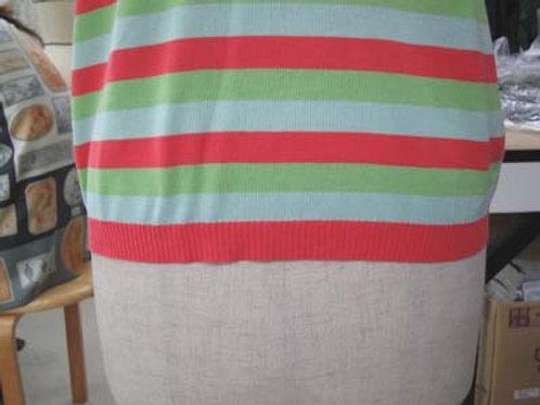 編み目の細かいニットの編み直し(リンキング)による着丈詰め(作業後)