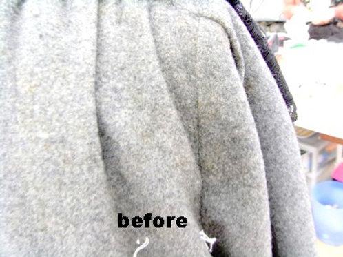 コートの変色を隠す 作業前