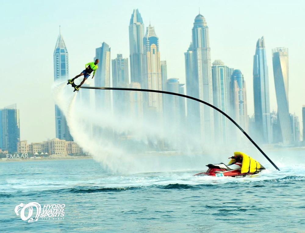 flyboarding near Dubai Marina