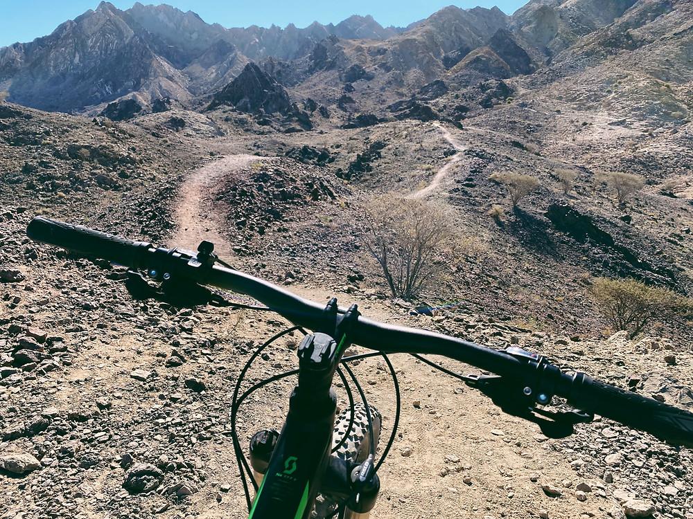 Mountaing Biking in Hatta, Hajar Mountains, MTB, Mountain bicycle route