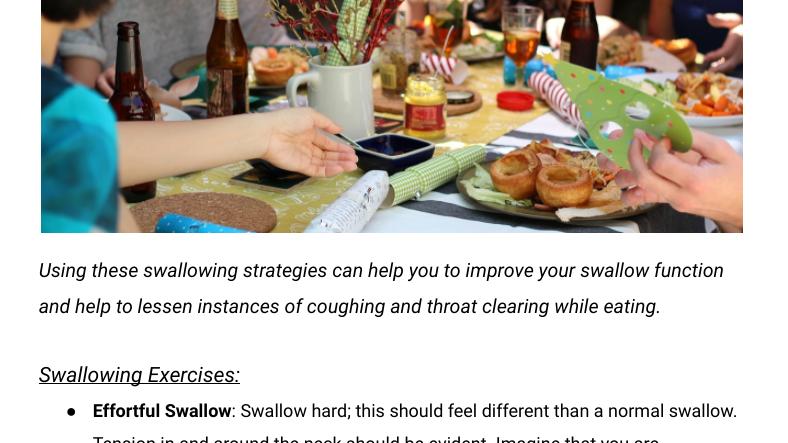 Swallowing Strategies Handout