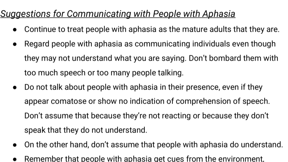 Caregiver Tips - Caring for Someone with Aphasia
