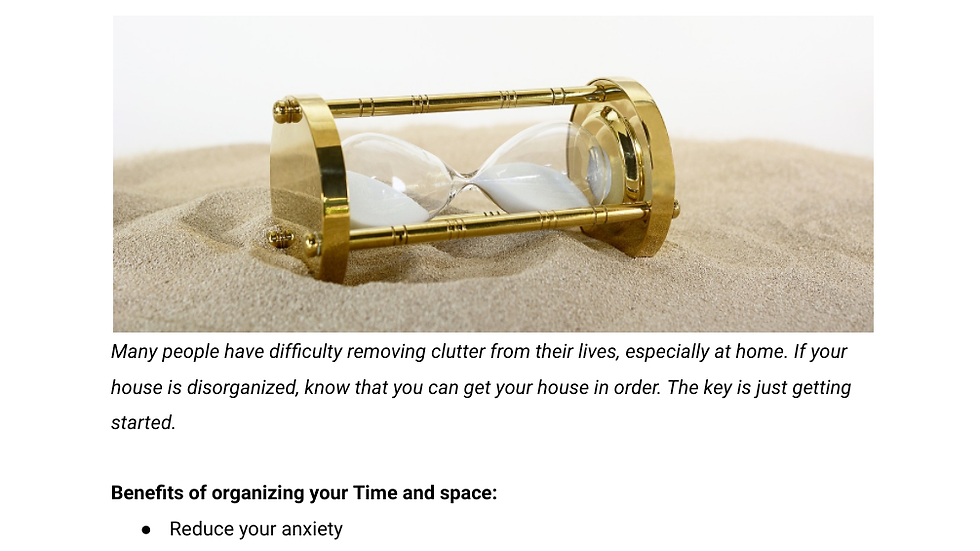 Organizational & Time Management Strategies Handout