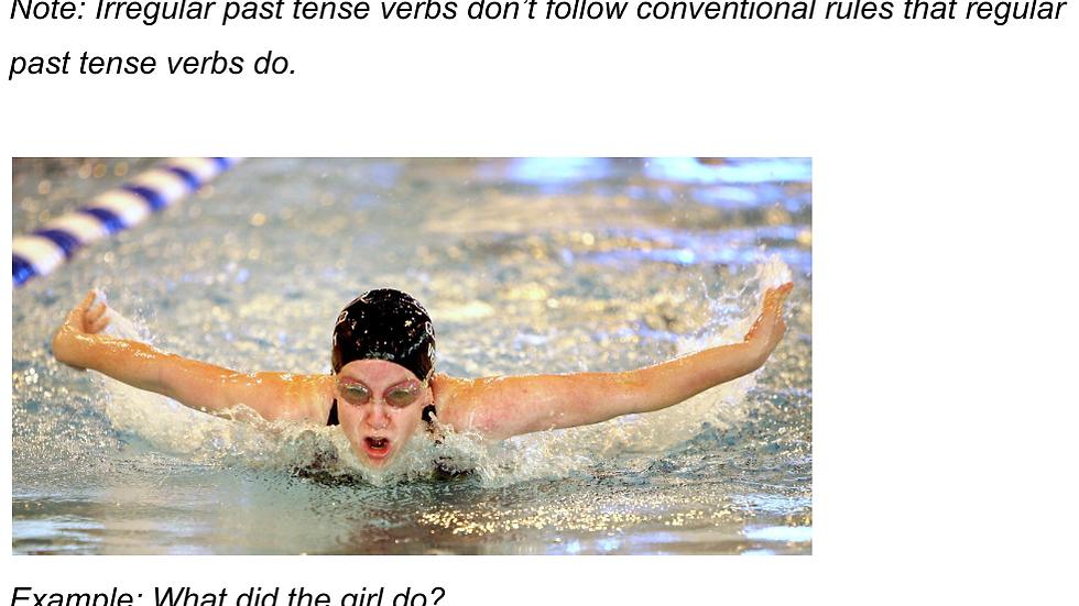 Irregular Past Tense Verbs Worksheet