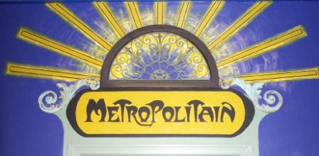 Faux Metro Entrance Above Door in Restaurant