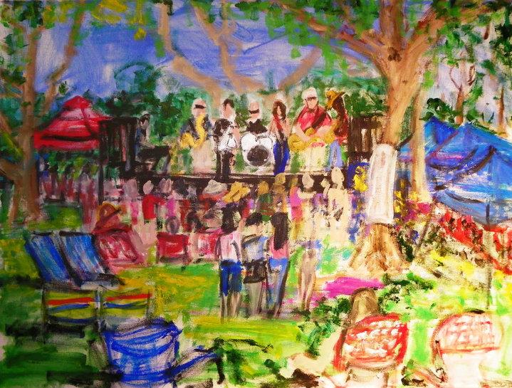 _7th Annual Freedom Festival_ _30_x40_ acrylic on canvas_(work in progress)