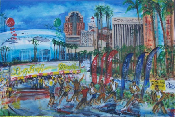 Here's the 2007 Long Beach Marathon at the finish line from a different angle