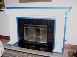 Faux Wood Fireplace before
