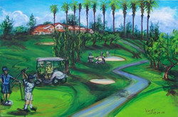 This Golf Tournament was held by the group _Long Beach Cares_ which purchased the painting to give i