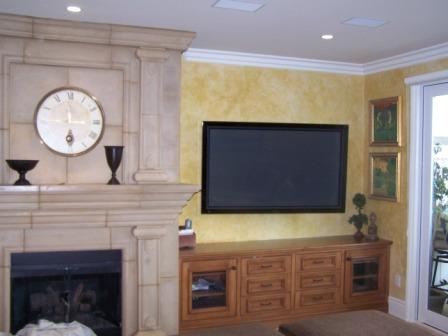 Tuscan Faux Finish TV Room