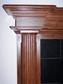 Faux Wood Fireplace pillar after