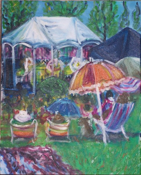 This was painted at the Freedom Festival the year before I officially became a live event painter