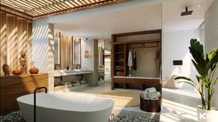 Duplex Bathroom Cap Karoso - Indonesia - Bitte Design