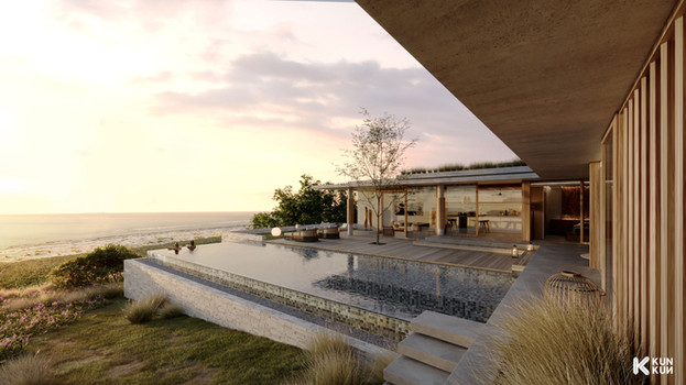 Duplex Villa Infinity Pool - Indonesia / GFAB Architects