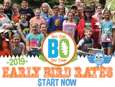 Big Oak Day Camp Early Bird Rates Start NOW