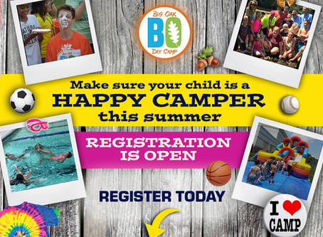 Big Oak Day Camp Registration is NOW OPEN for Summer 2020