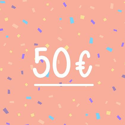 FINCH GIFT CARD 50€
