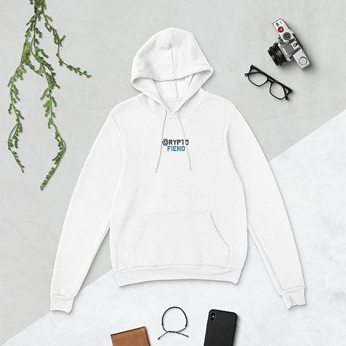 Crypto Fiend Premium Pullover Hoodie   White
