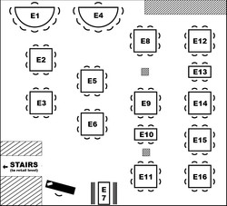 Event Space Layout (Upstairs)