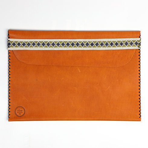 Document / Laptop Holder with Embroidered Strap