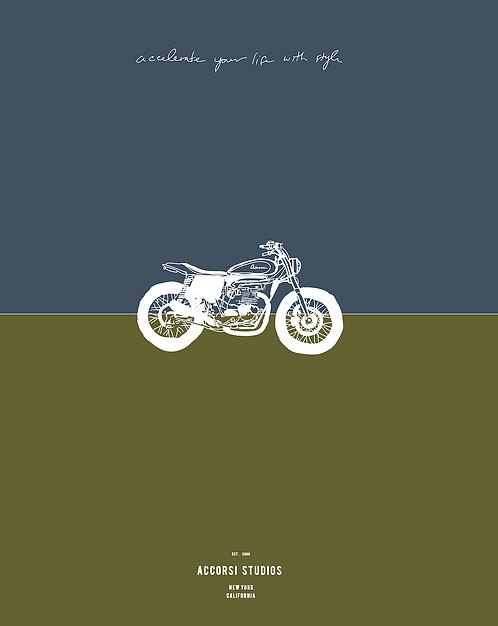 Accorsi Studios Motorcycle Poster