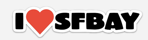 SFBay Heart Sticker