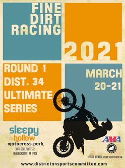 Sleepy Hollow Motocross Poster