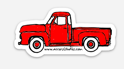 Red Truck Sticker