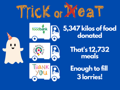 Halloween event collects phenomenal amount of food
