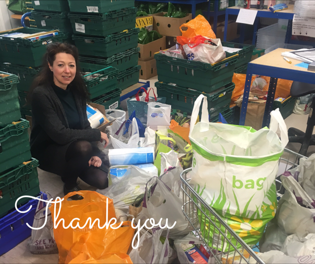 Melanie Rochford from Hackney Foodbank