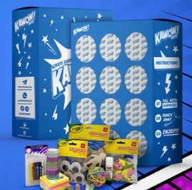 A special surprise waits behind each of the twelve holes in this box - specially made for children.