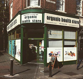 Organic health store selling fruit and veg and supplements