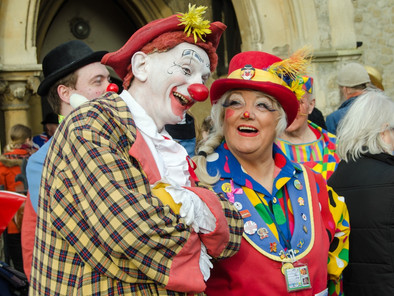 Clowns prepare for annual Grimaldi Service in Hackney