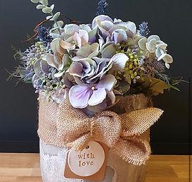 Luxury bespoke, silk faux flower arrangements