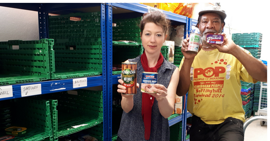 Melanie Rochford and Will from Hackney Food Bank