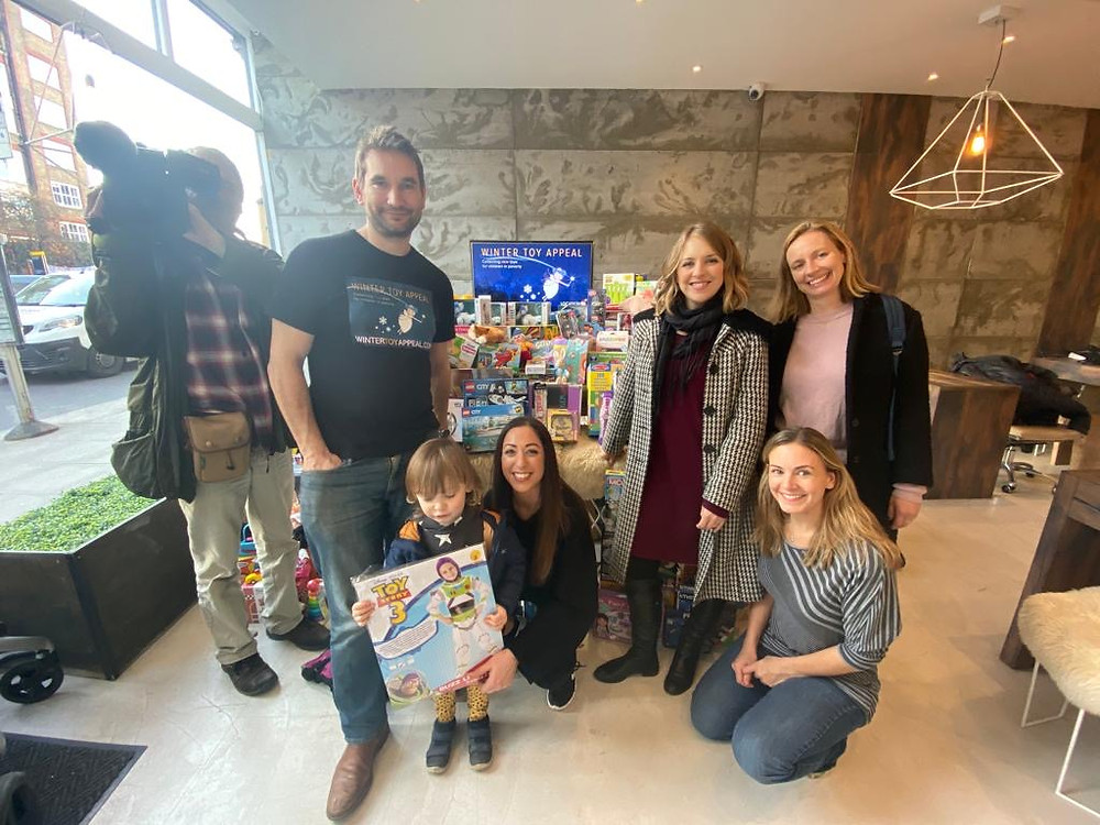 Winter Toy Appeal pic with Wendy Hurrell bbc
