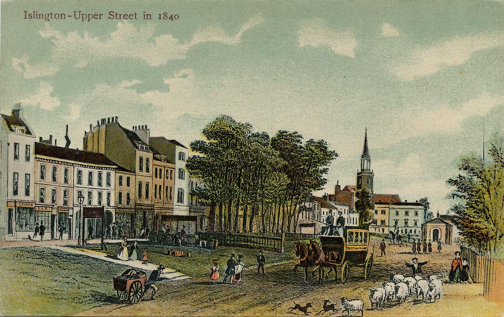 Upper Street Islington 1840