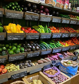 Fruit and veg shop in the heart of Crouch End.