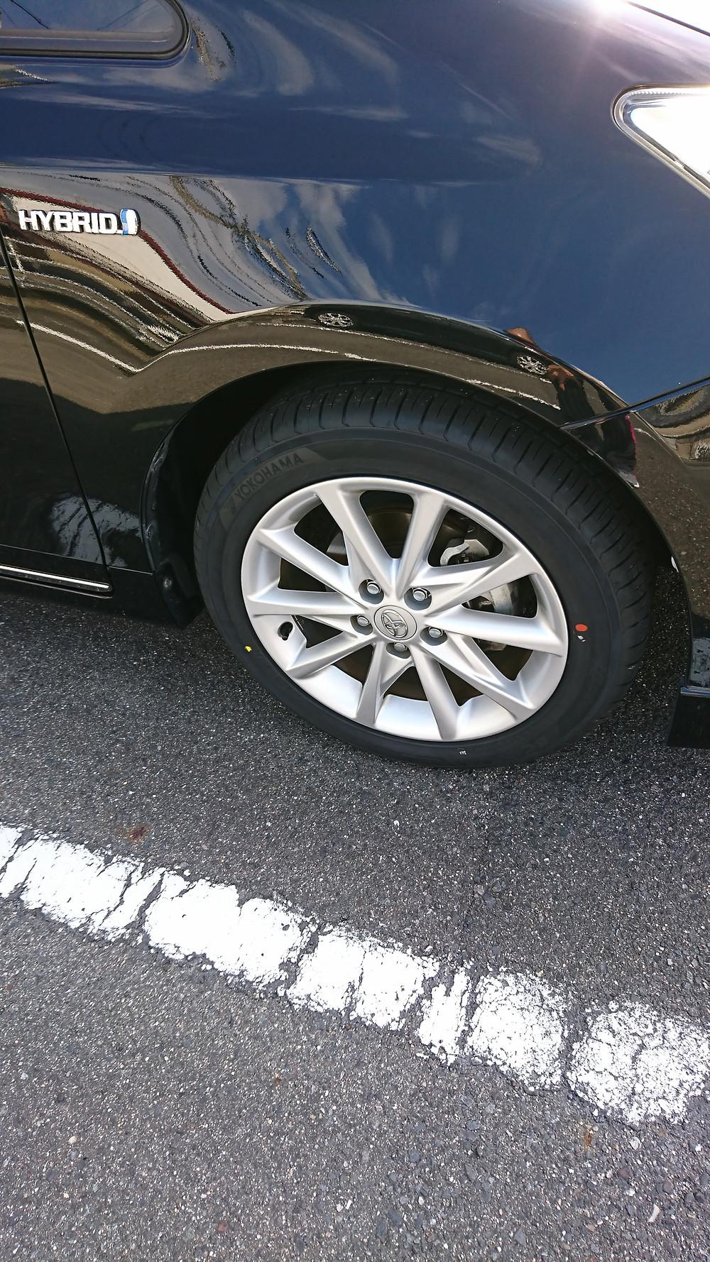 タイヤが新品