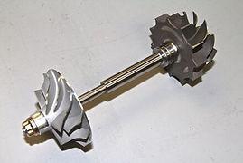 shaft wheel assy ensemble roue turbine et compresseur