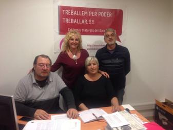 """L'Associació d'aturats de Torredembarra """" Busquem Feina """" signa conveni amb el Col"""