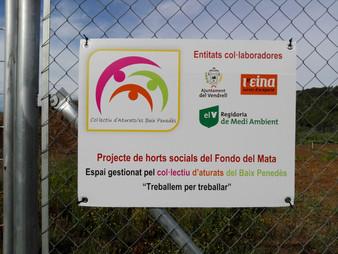 El col•lectiu d'aturats del Baix Penedes sol•licita la renovació dels terrenys dels horts socials