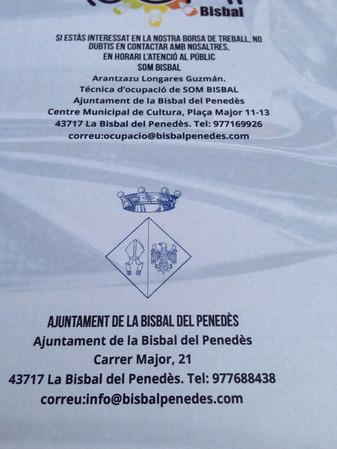 L'AJUNTAMENT DE LA BISBAL DEL PENEDÈS ES REUNEIX AMB EL COL.LECTIU