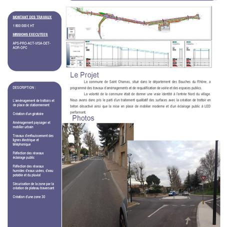 Aménagement de l'avenue Saint Exupéry                                 Commune de Saint Chamas (13)