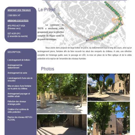 Aménagement urbain et voirie Commune de Trets (13)