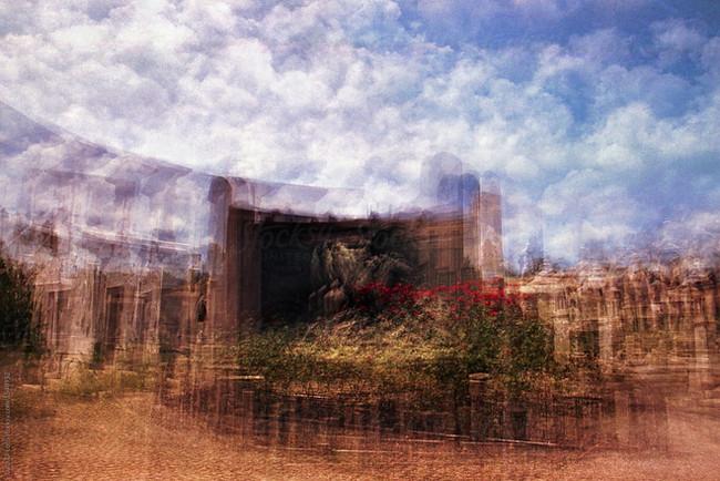 Multiple exposure in monumental cemetery of Torino