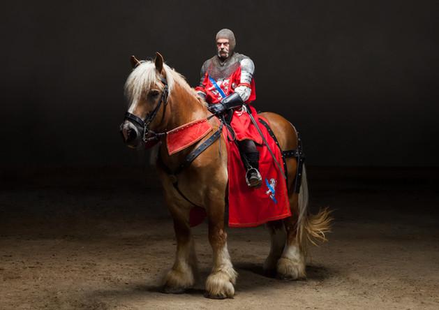 ritratto equestre in costume storico