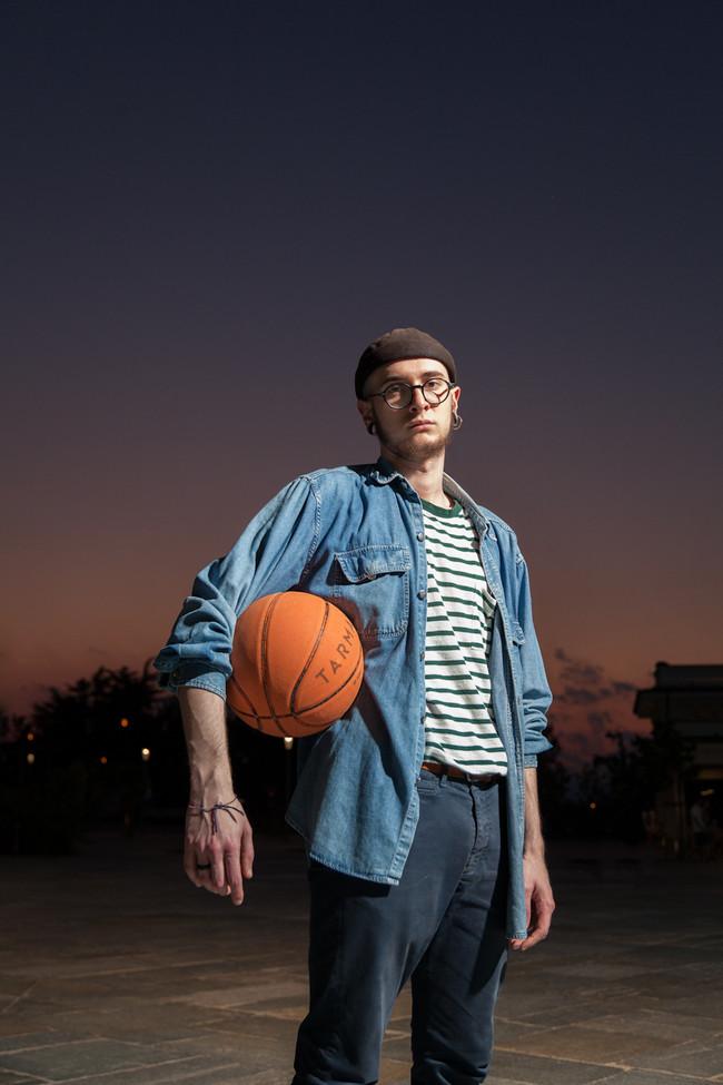 Fashionist basketball player
