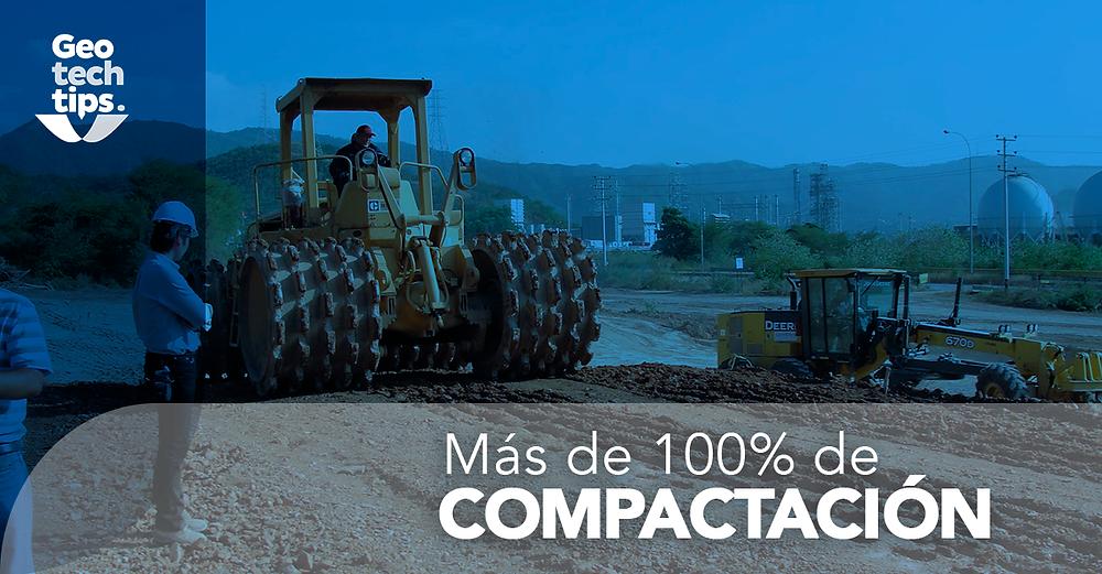 Más de 100% de compactación